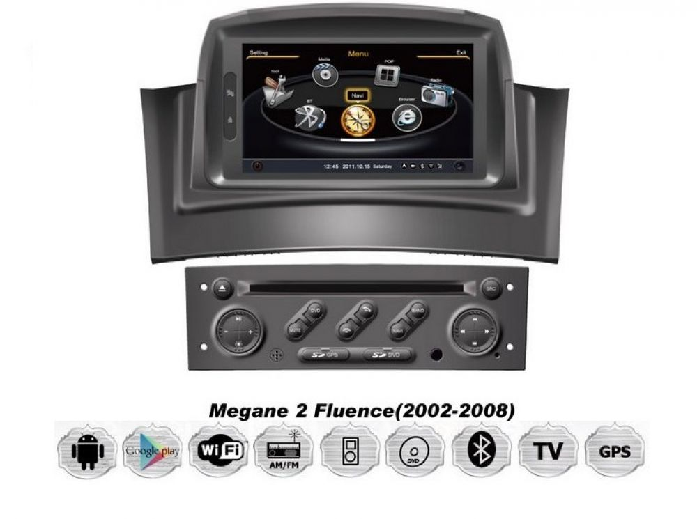 renault megane cc ii iii 1 din android touchscreen autoradio navigps dvd tv wifi ebay. Black Bedroom Furniture Sets. Home Design Ideas