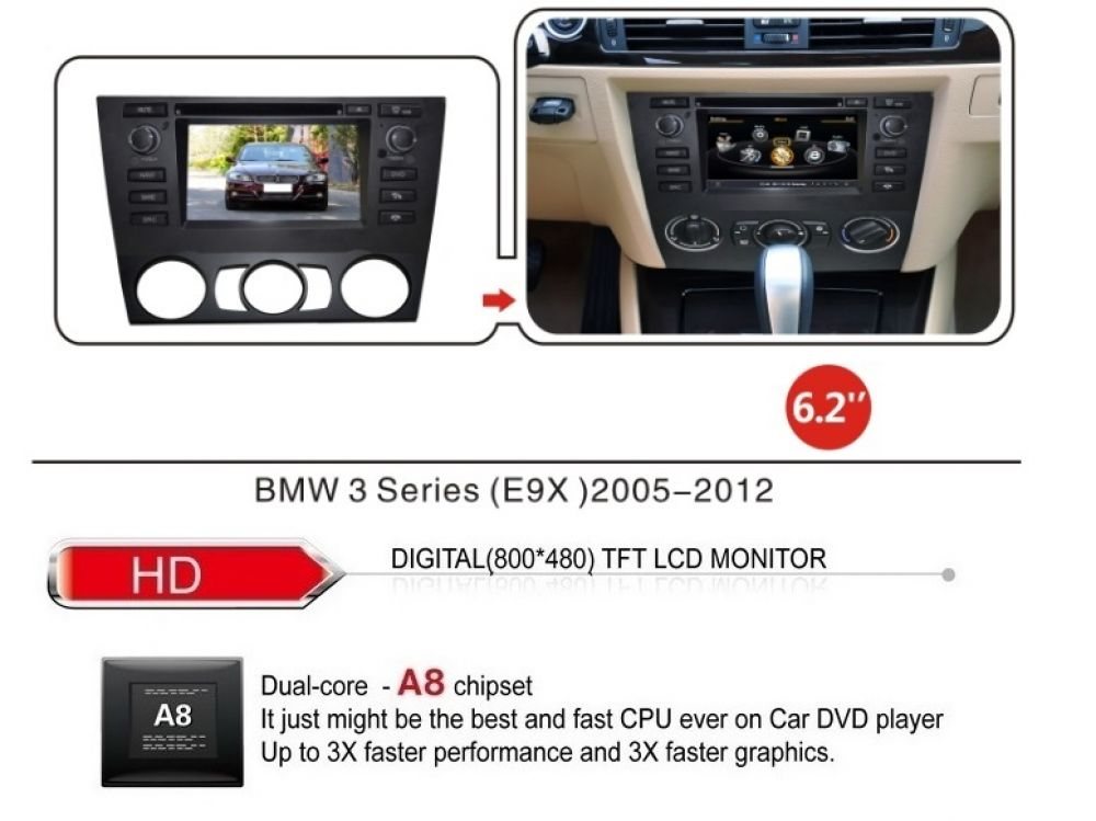 bmw e90 e91 e92 e93 3er autoradio navigation gps dvd player mp3 usb sd 3d tv ebay. Black Bedroom Furniture Sets. Home Design Ideas