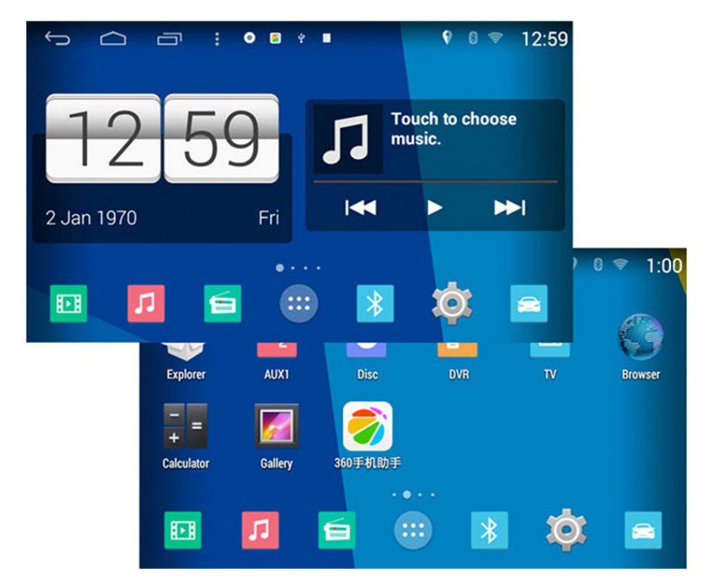 ford ecosport android autoradio touchscreen dvd gps navi. Black Bedroom Furniture Sets. Home Design Ideas
