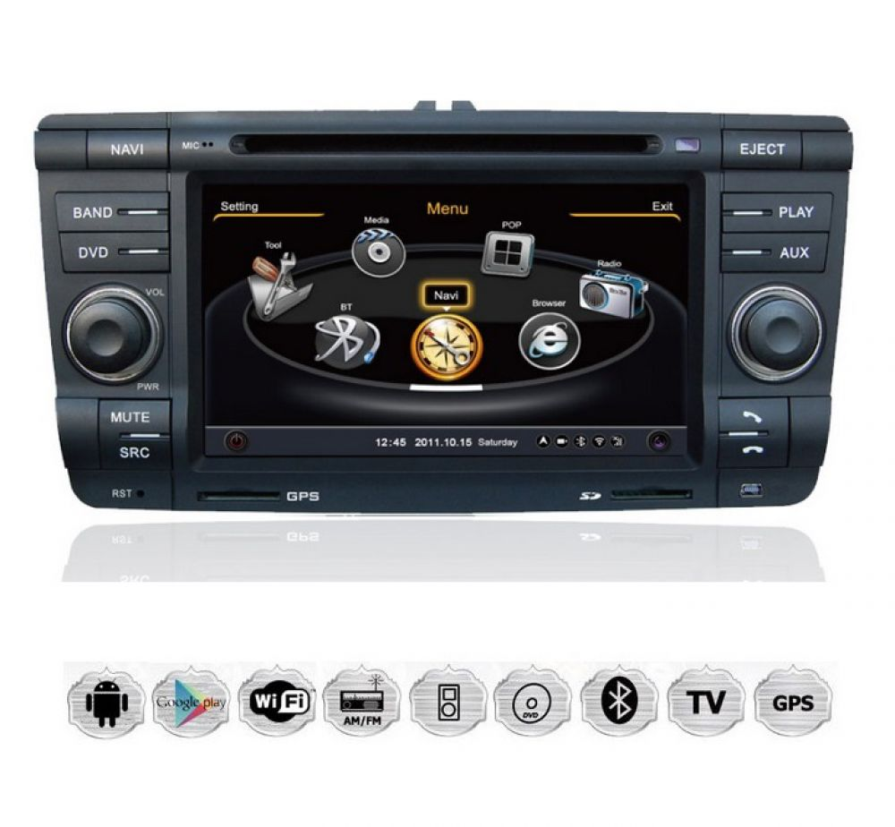 skoda octavia touchscreen android autoradio dvd sd tv. Black Bedroom Furniture Sets. Home Design Ideas