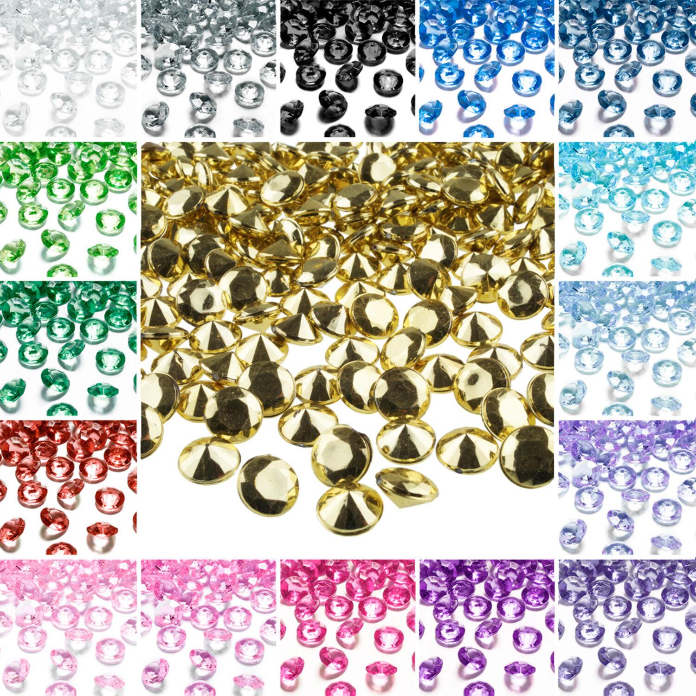 30 Dekosteine HERZEN 2cm Streu Deko Acryl Tischdeko Kristalle Streuteile Basteln
