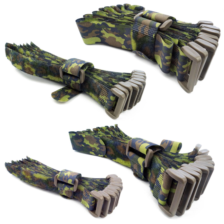 goodymax 10 Klettkabelbinder Kabelbinder Camouflage 20 cm Flecktarn Tarnmuster Army-Design