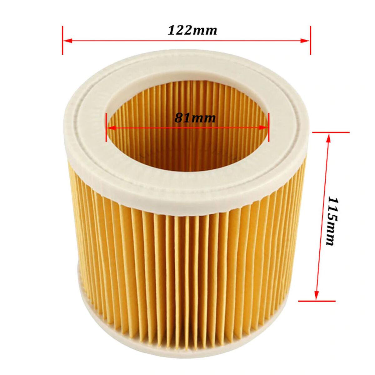 5x Patronen-Filter für Kärcher A 2054 ME 2064 PT Lamellenfilter Wechselfilter