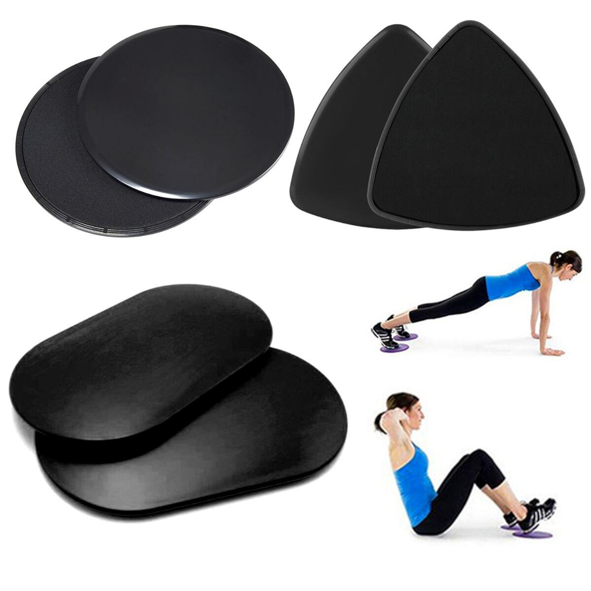 4 Paar Fitness Bodengleiter Gleitscheiben Discs Training Sport Doppelseitig