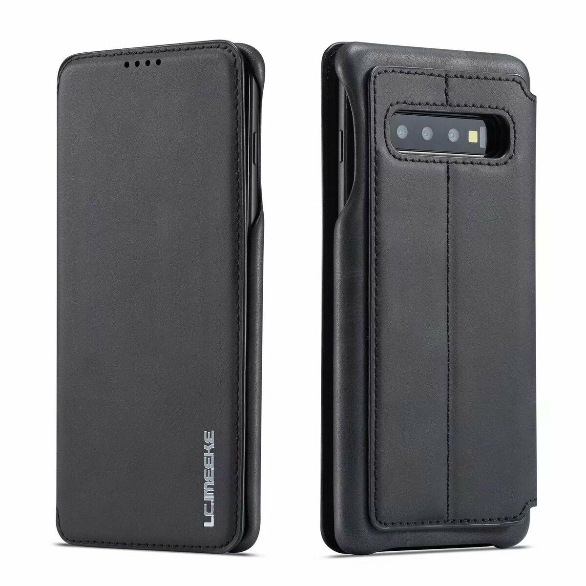 268fbc1dc6bf8 Echt Leder Tasche für Samsung Galaxy S10 PLUS - Flip Case Schutz Hülle  Cover S