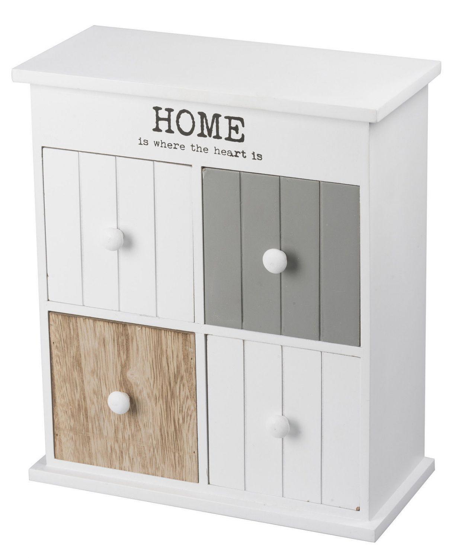 aufbewahrungsbox mini kommode home schrank mit 4 schubladen weiß