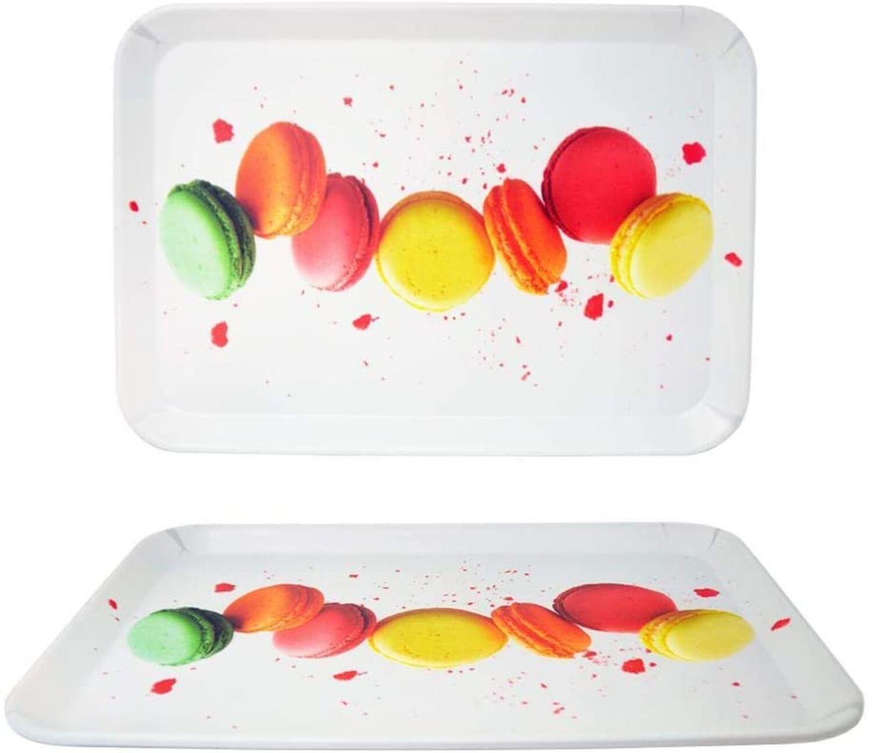 2er Set Melamin Tablett Mediterran Küche Landhaus Shabby Chic Deko diverse Motiv