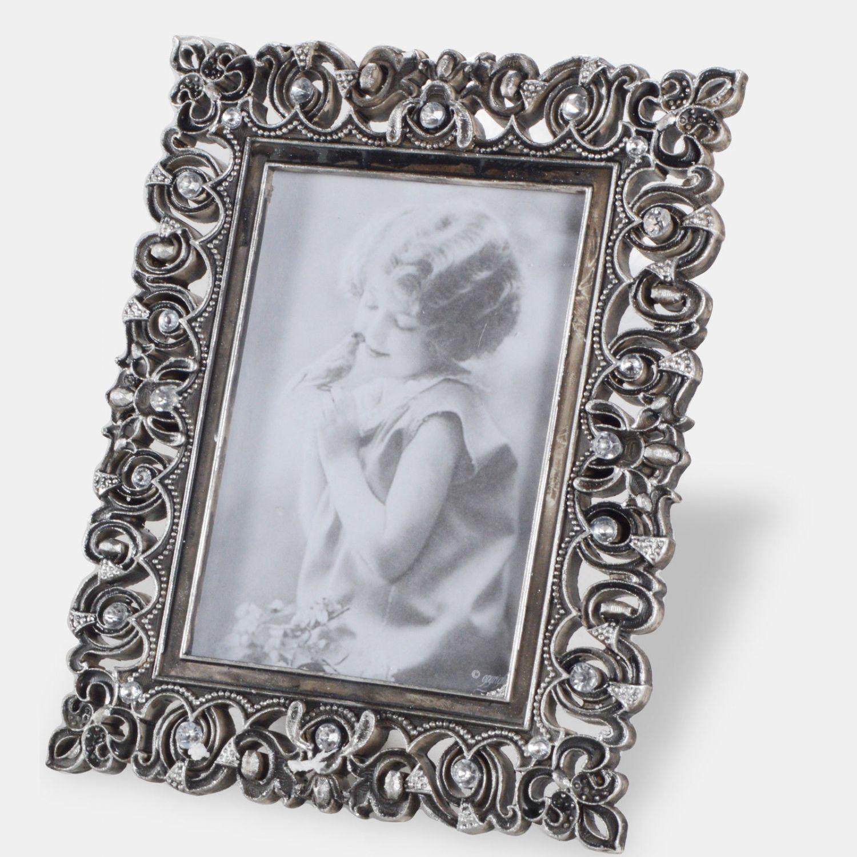 Bilderrahmen Fotogalerie Fotorahmen Antik Silber Vintage Barock ...