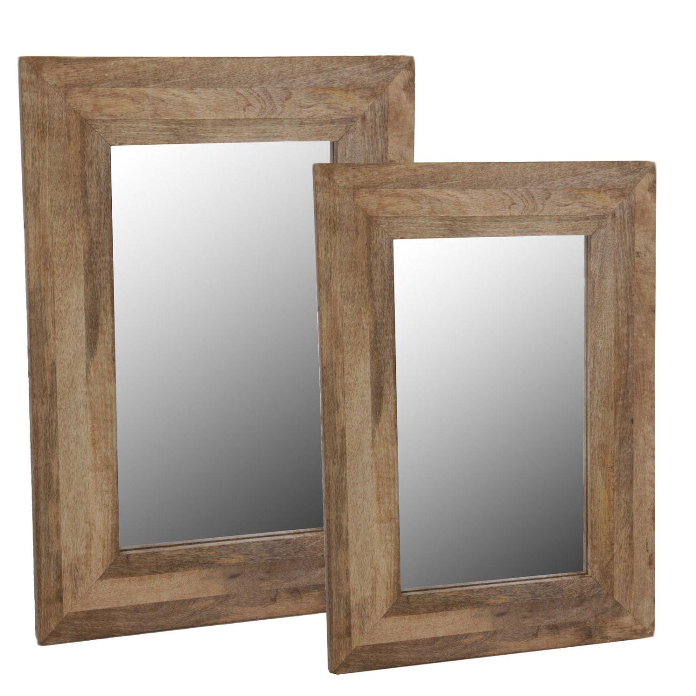 wandspiegel im holzrahmen badezimmer spiegel rahmen massiv shabby chic ebay