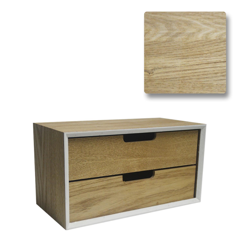 Druline Kommode Mini Modern Holz 2 Facher 16 X 30 X 15 Cm