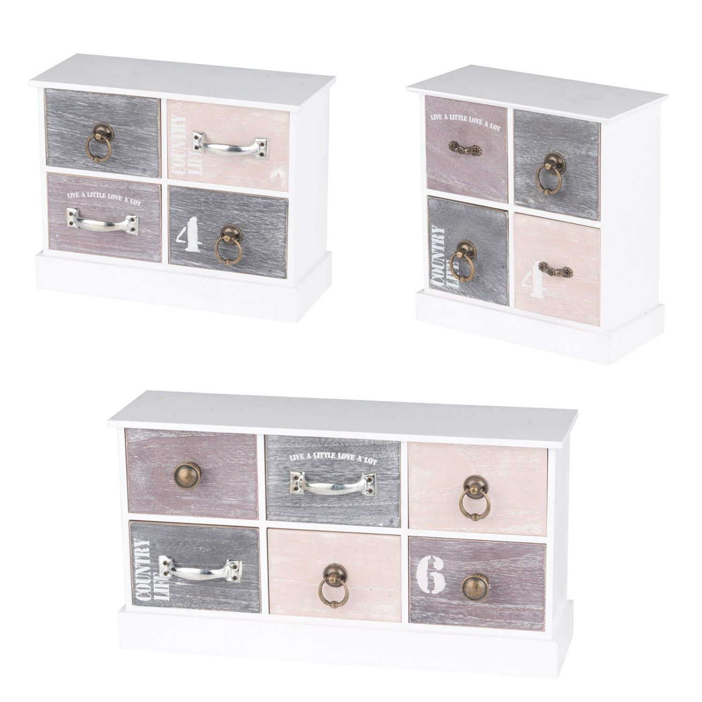 mini kommode schubladen schmuckkasten holz aufbewahrung. Black Bedroom Furniture Sets. Home Design Ideas