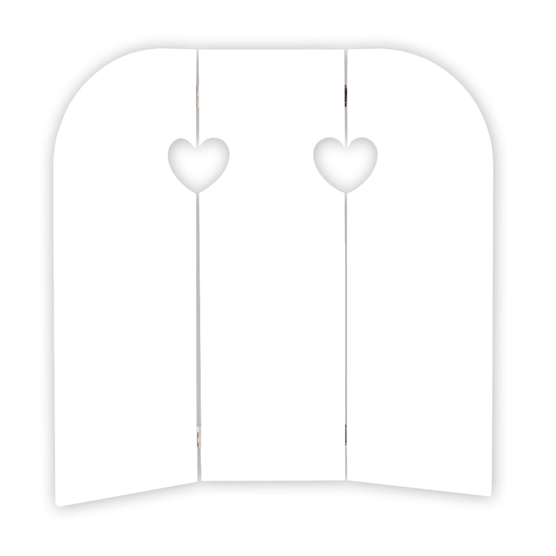 58 cm Wandschirm HEART Fensterdeko Fensterladen Aufsteller Holz Shabby Chic Deko