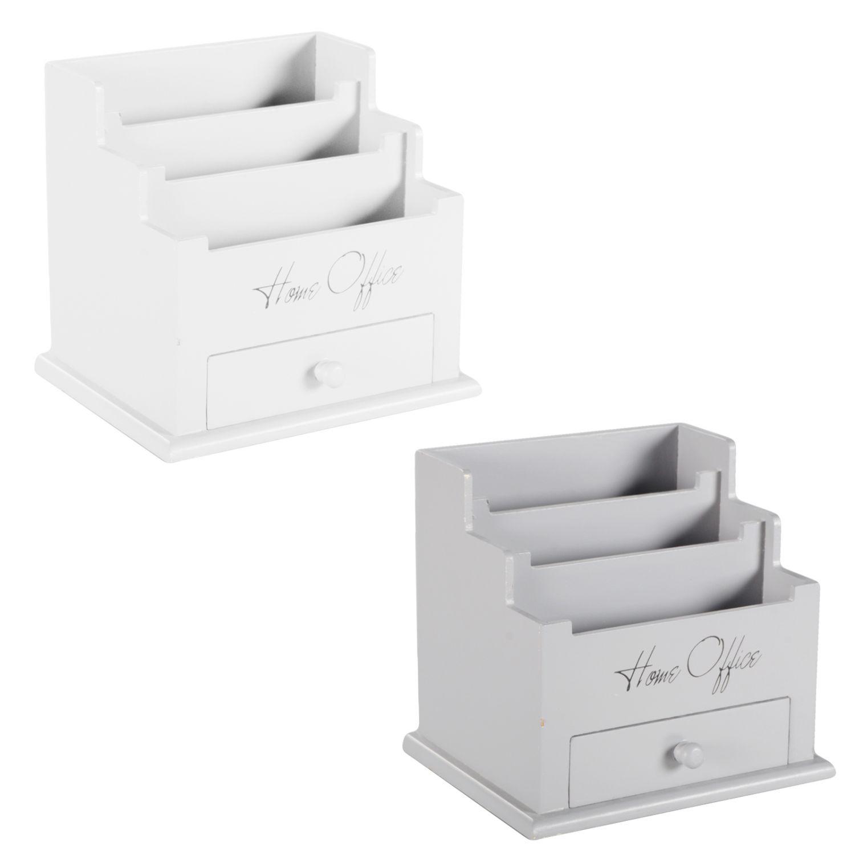 Ikea Scrittoio Con Ribaltina dettagli su scrivania organizer porta penna schreibtischbo lettere  letterbox legno bianco