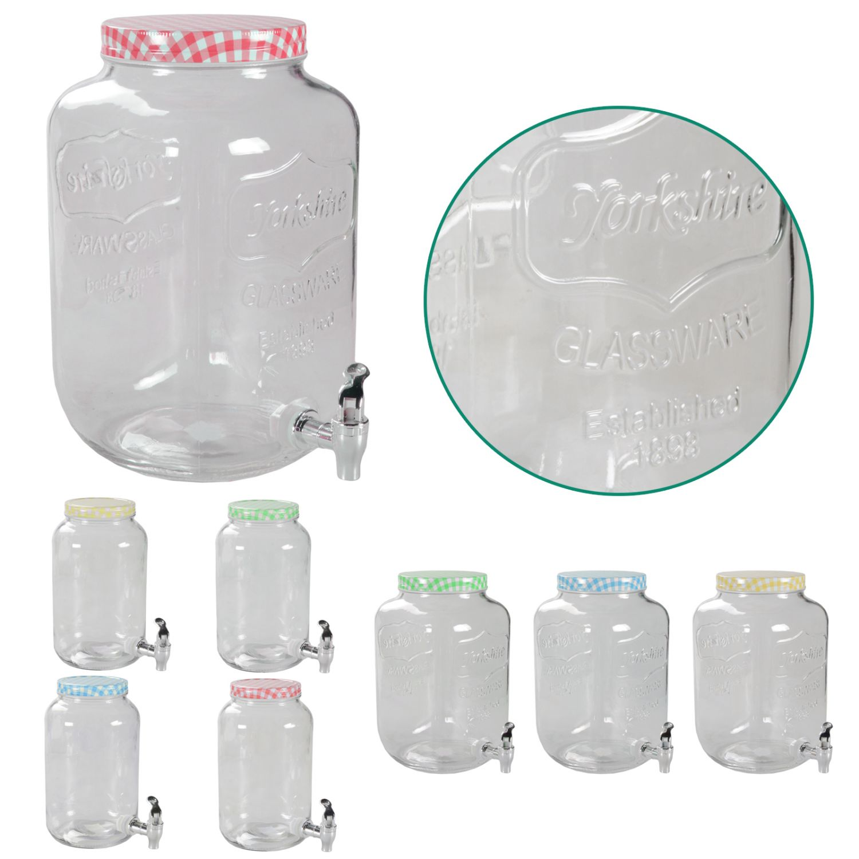 Getränkespender mit Hahn 3L 5L 7L Glas Landhaus Dispenser Getränke ...