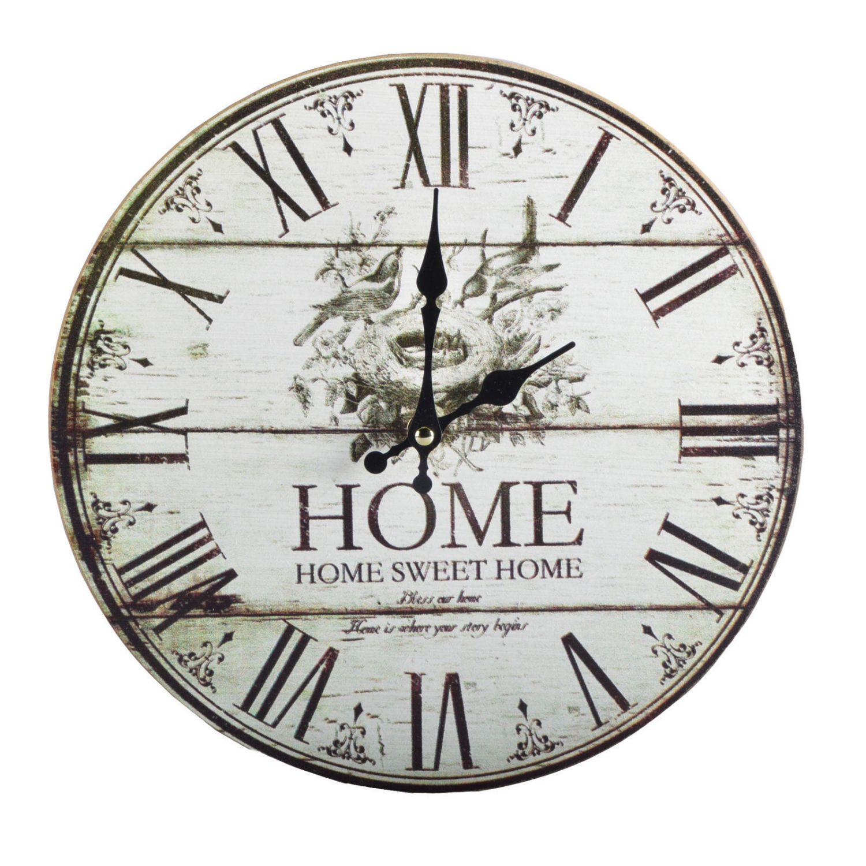 Details zu Wanduhr Ø10 cm Vintage Röhmische Zahlen Uhr Wohnzimmer Küchenuhr  Shabby Chic