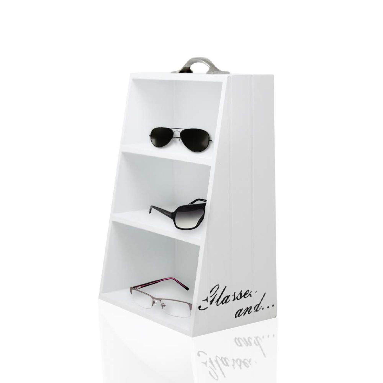 Lunettes étagère 3 compartiments-étagère de lunettes Support Lunettes Support pour lunettes soleil