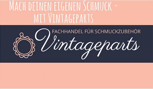 Vintageparts DIY Cabochon aus Resin in schwarz 12 mm 4 Stück