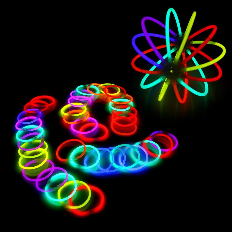 500 zweifarbige Knicklichter bicolor 500 x Verbinder im 5-Farbmix 1000 Teile