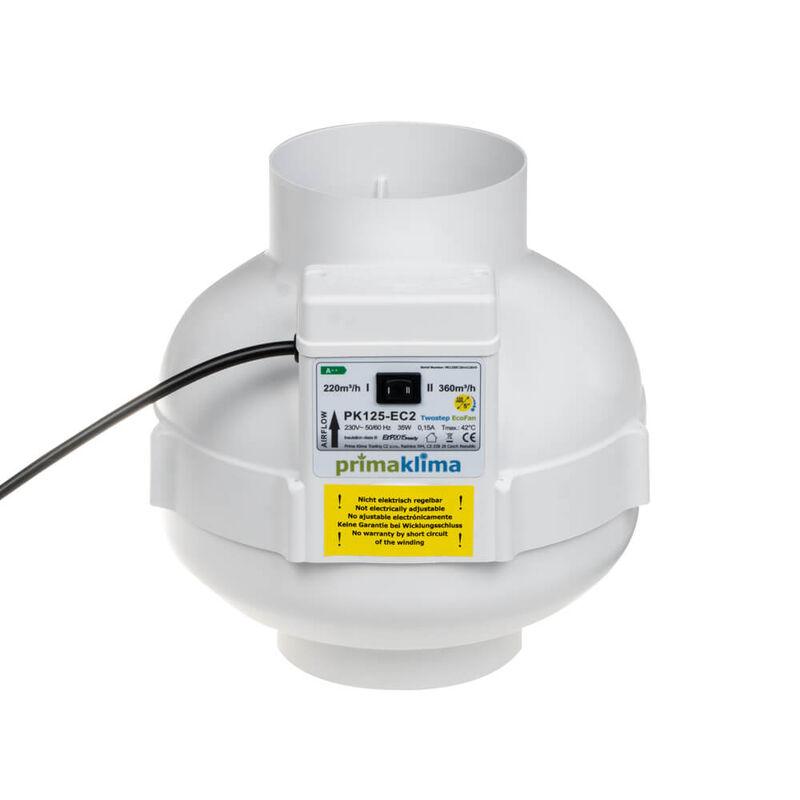 Prima Klima II Speed Ventilator 125 220-360m³//h Lüfter Indoor Grow
