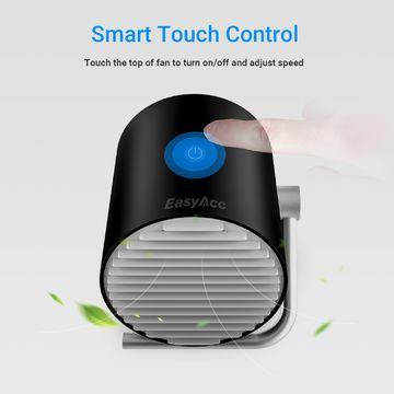 USB Ventilator Doppelblatt Mini Tischventilator Berührungsschalte USB Ventilator