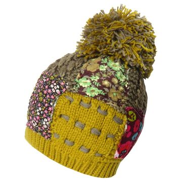 0a5e520ff76 Knitted Beanie Hat Poodle Pompom Patchwork Women s Girl s Teenie ...