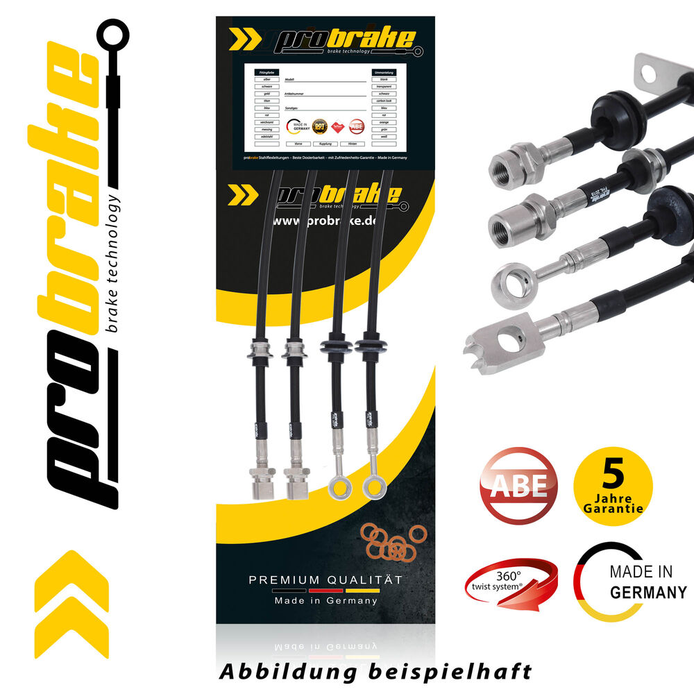 Stahlflex Brake Line Black For Alfa Romeo GTV 3.0 V6 24V