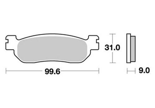 AP Racing Bremsbeläge hinten für Yamaha YZF-R1 07-08 RN19 Organisch
