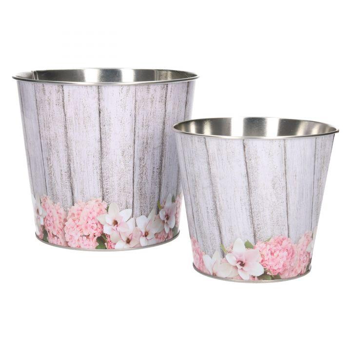 Übertopf verzinkt Zink Blumentopf Pflanzkübel Blumen Metall Topf ...