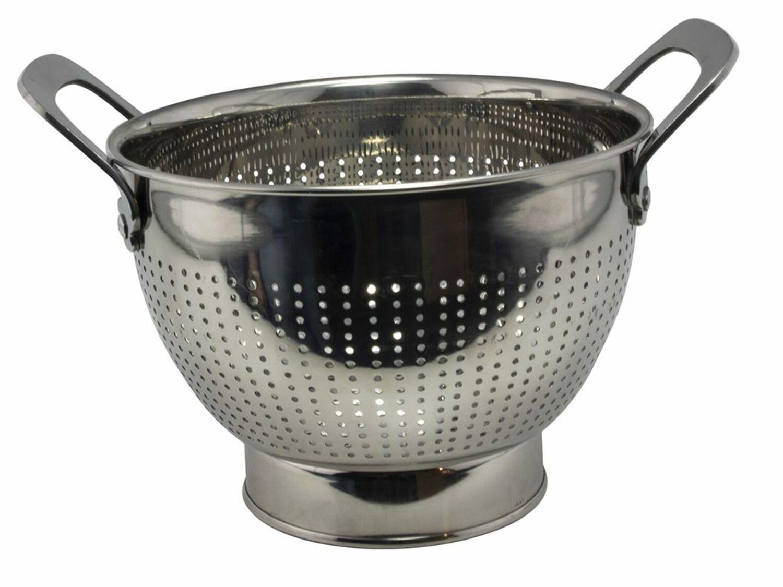 Edelstahl Retro Seiher Sieb Weiß Salatseiher Durchschlag Küchensieb Nudelsieb