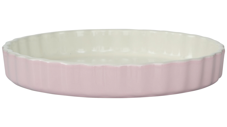 Ø 28 cm TARTEFORM Keramik Quicheform Kuchenform Backform Obstkuchenform Rosa