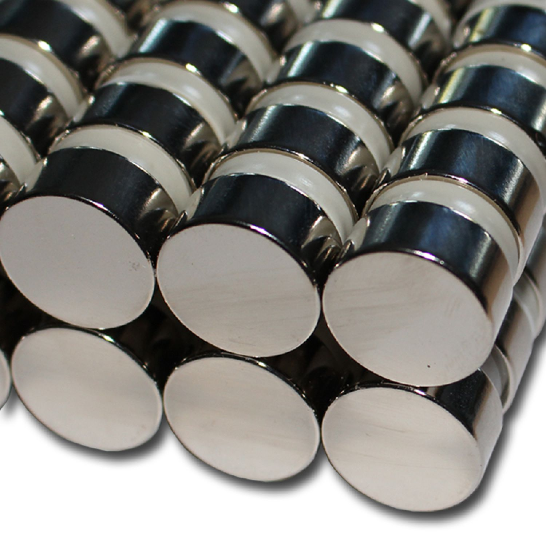 20 NEODYM STAB MAGNETE D8x8 mm NdFeB N48 POWER RUND SCHEIBE HAFTKRAFT 4 KG