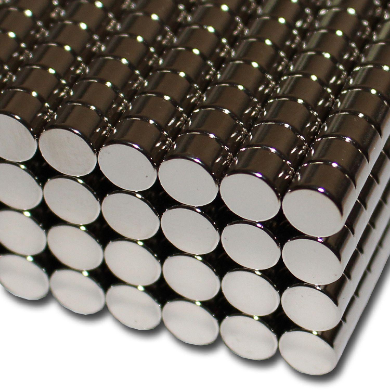 10 NEODYM POWER MAGNETE D8x5 mm NdFeB N52 SEHR STARK BASTELN HAFTKRAFT 2,8 KG