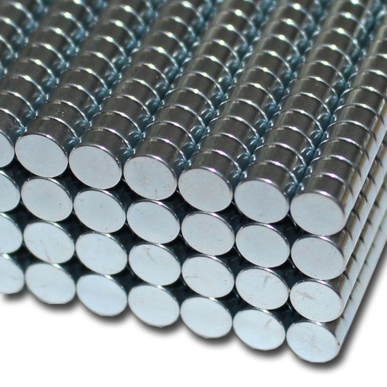 10x Neodym Scheiben Magnete D10 x 5 mm N42 2,4kg Kraft NdFeB 10 x 5 mm rund