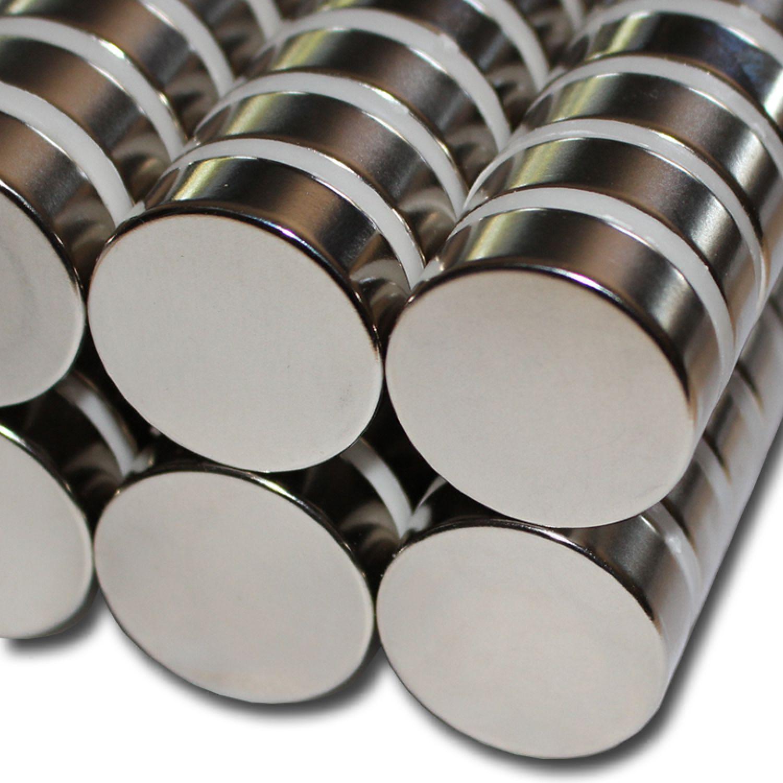 Kugelmagnet /Ø 12,7 mm Nickel N40 Magnetkugel Neodym NdFeb Supermagnet Dauermagnet h/ält 2,8 kg