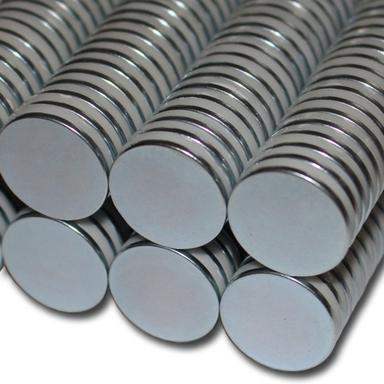 5x Neodym Scheiben Magnete Ø8 x 2 mm N45 1,1kg Haftkraft NdFeB D8x2 mm rund