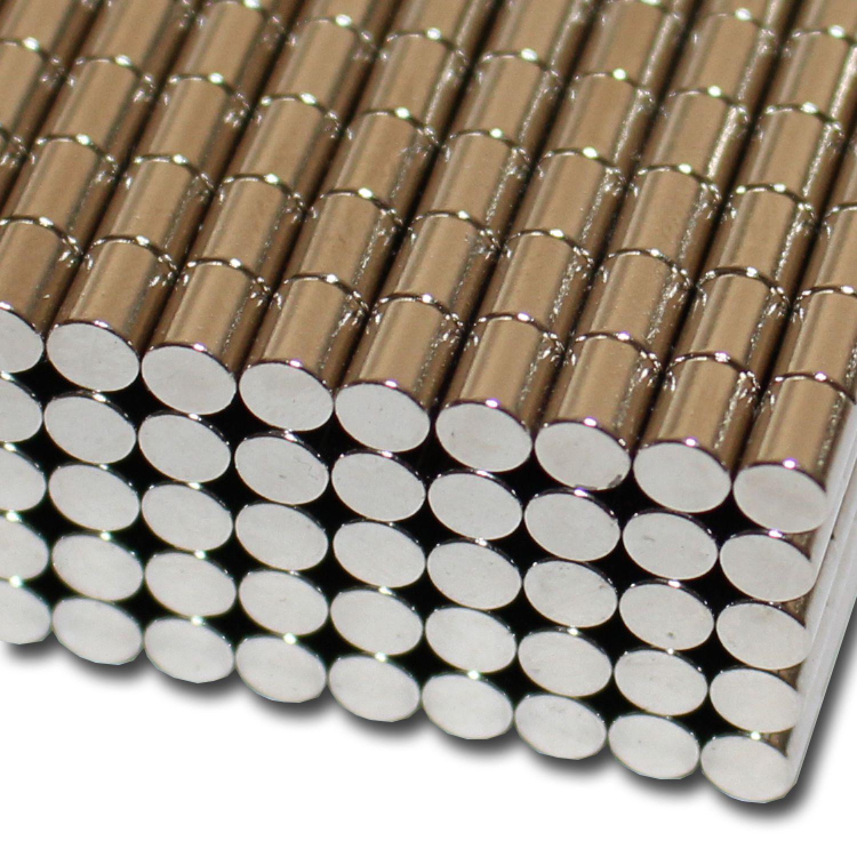 10x Neodym Scheiben Magnete Ø8 x 1 mm N52 410g Haftkraft NdFeB D8x1 mm rund