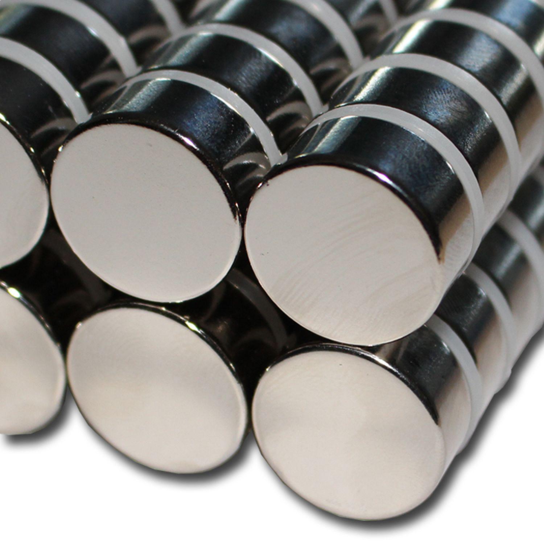 2 NEODYM POWER MAGNETE D22x10 mm NdFeB N48 22 KG EXTREM STARK SCHEIBE ZYLINDER
