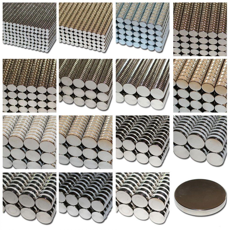 10 Stk Extrem starke Neodym Scheiben Zylinder Magnete Rund NdFeB N42 12mm x 3 mm