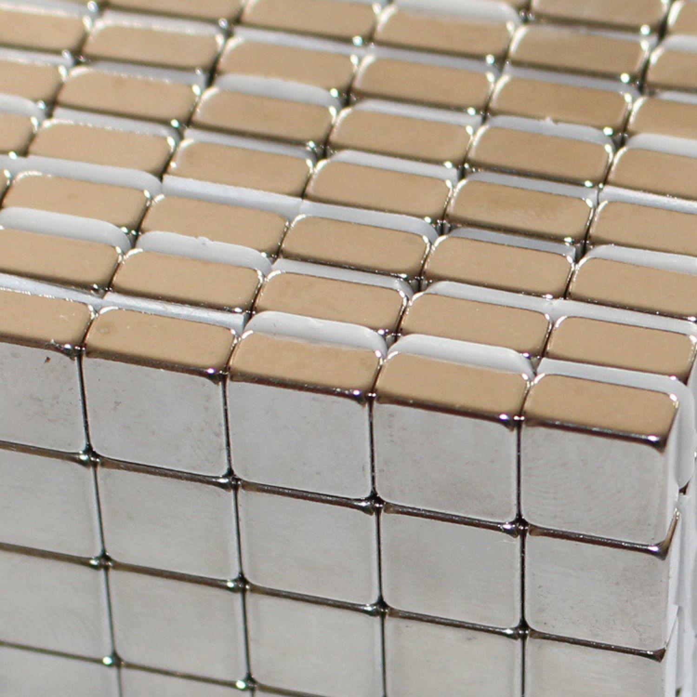 20 SEHR STARKE NEODYM QUADER MAGNETE 10x10x5 mm NdFeB N45 BLOCK WERKSTATT 6,5 KG