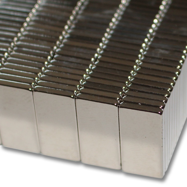 2 STARKE NEODYM QUADER MAGNETE 20x20x5 mm NdFeB N45 POWER BLOCK BASTELN 8,5 KG