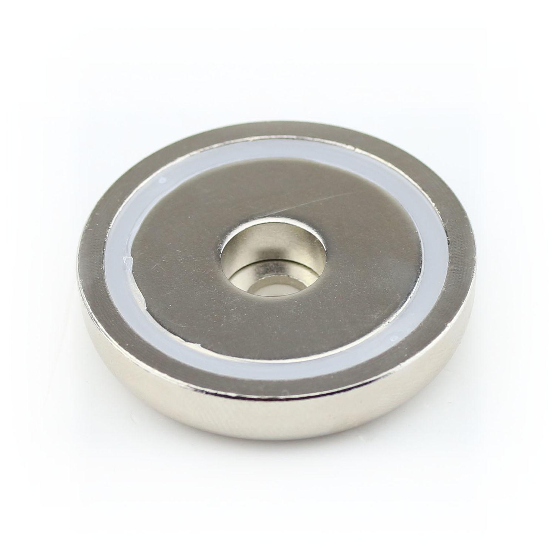 10 NEODYM RING MAGNETE D20x7 mm SÜD 4,2 mm BOHRUNG SENKUNG ANSCHRAUBEN 10,5 KG