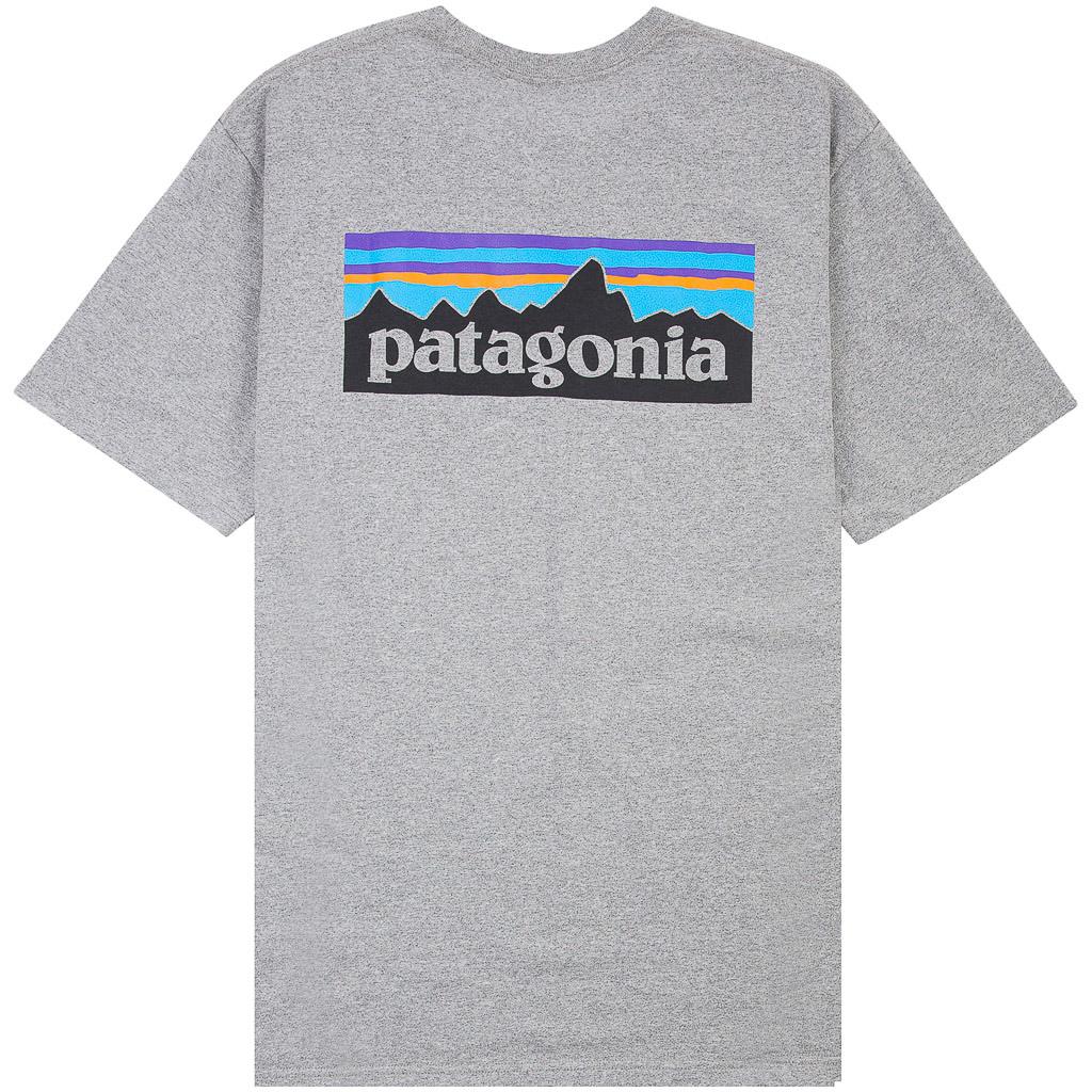 Patagonia-p-6-Logo-resposibili-Tee-Gris-chine-NEUF-amp-neuf-dans-sa-boite-39174 miniature 2