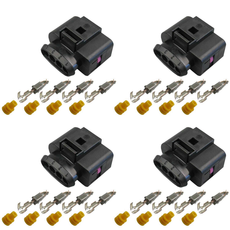 Crimp Kontakte Stecker 10-polig Reparatursatz für VW 1J0973735 Skoda Seat weibl