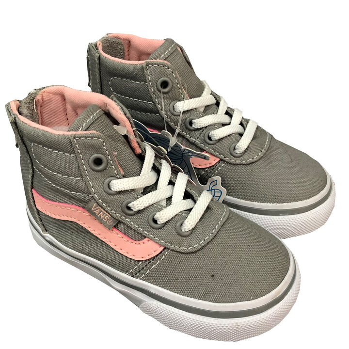 Baby Vans Gr. 21 (US5) weiss Mond und Sterne Leder Sneaker