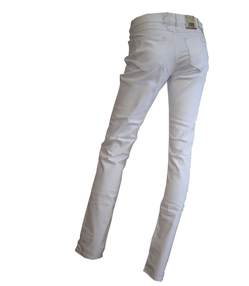 Details zu Mustang Indiana Damen Jeans Hose Slim Fit Weiß W27 W33 NEU