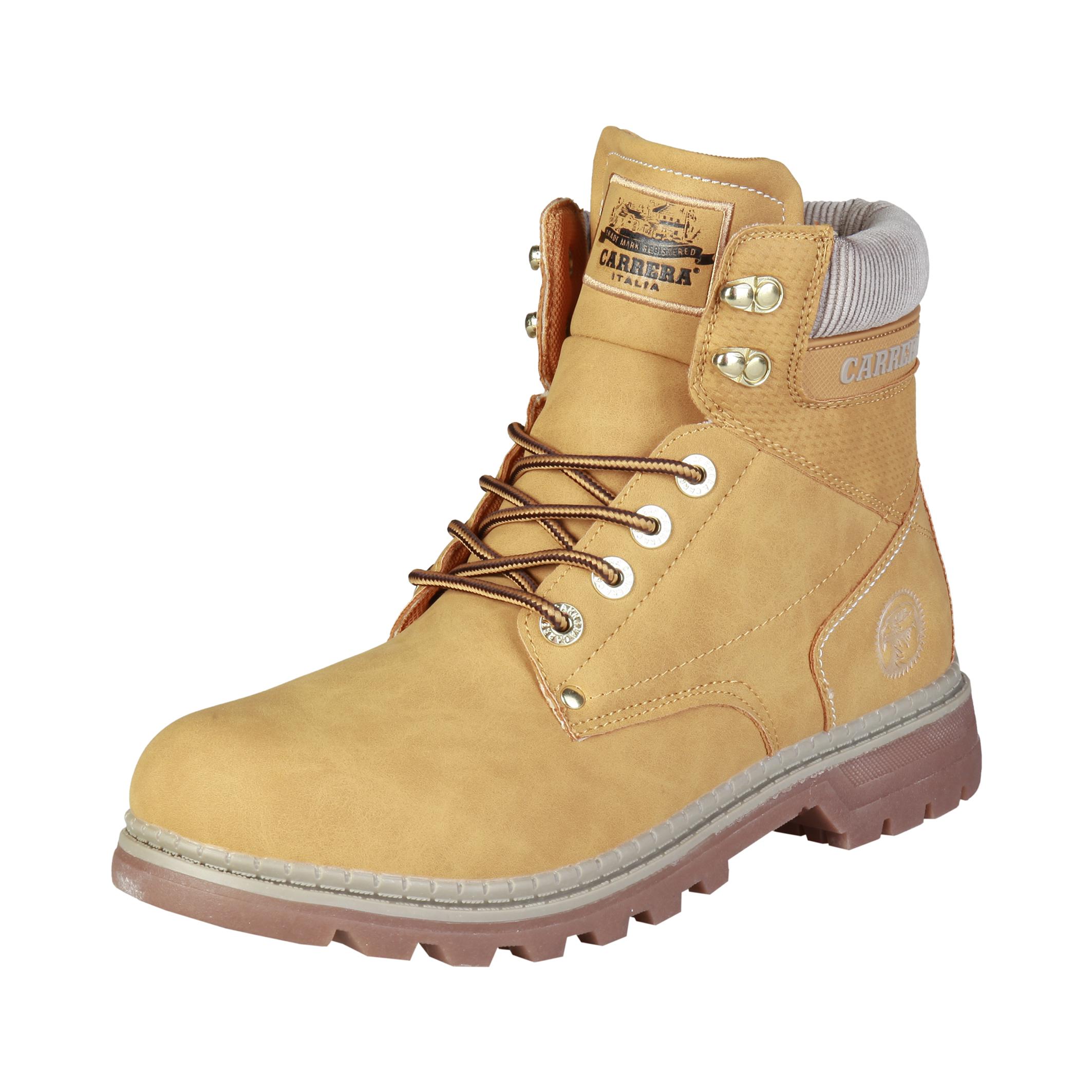 the best attitude e3b8a 24f45 Details zu Carrera Texas Herren Schuhe Warme Winter Boots Stiefel  Stiefeletten Braun