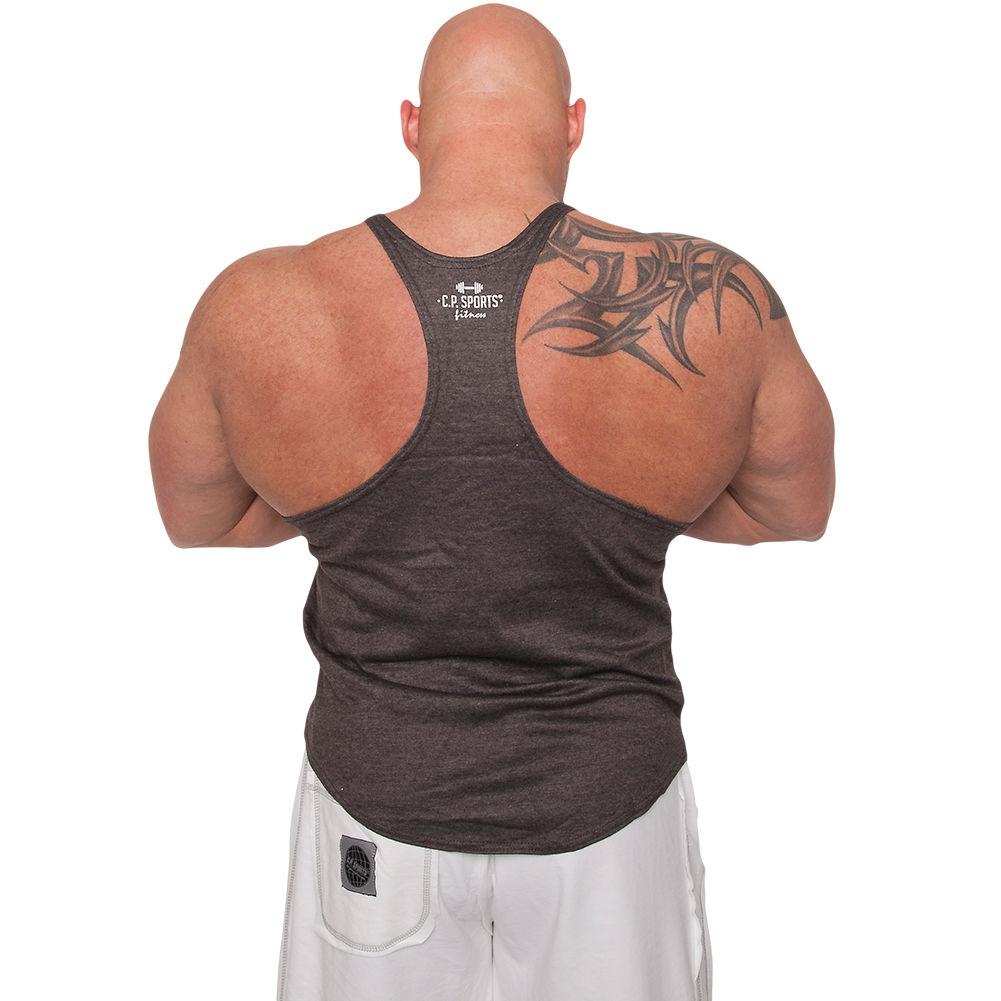 Corex Fitness No Pain No Gain Stringer Mens Training Vest Grey