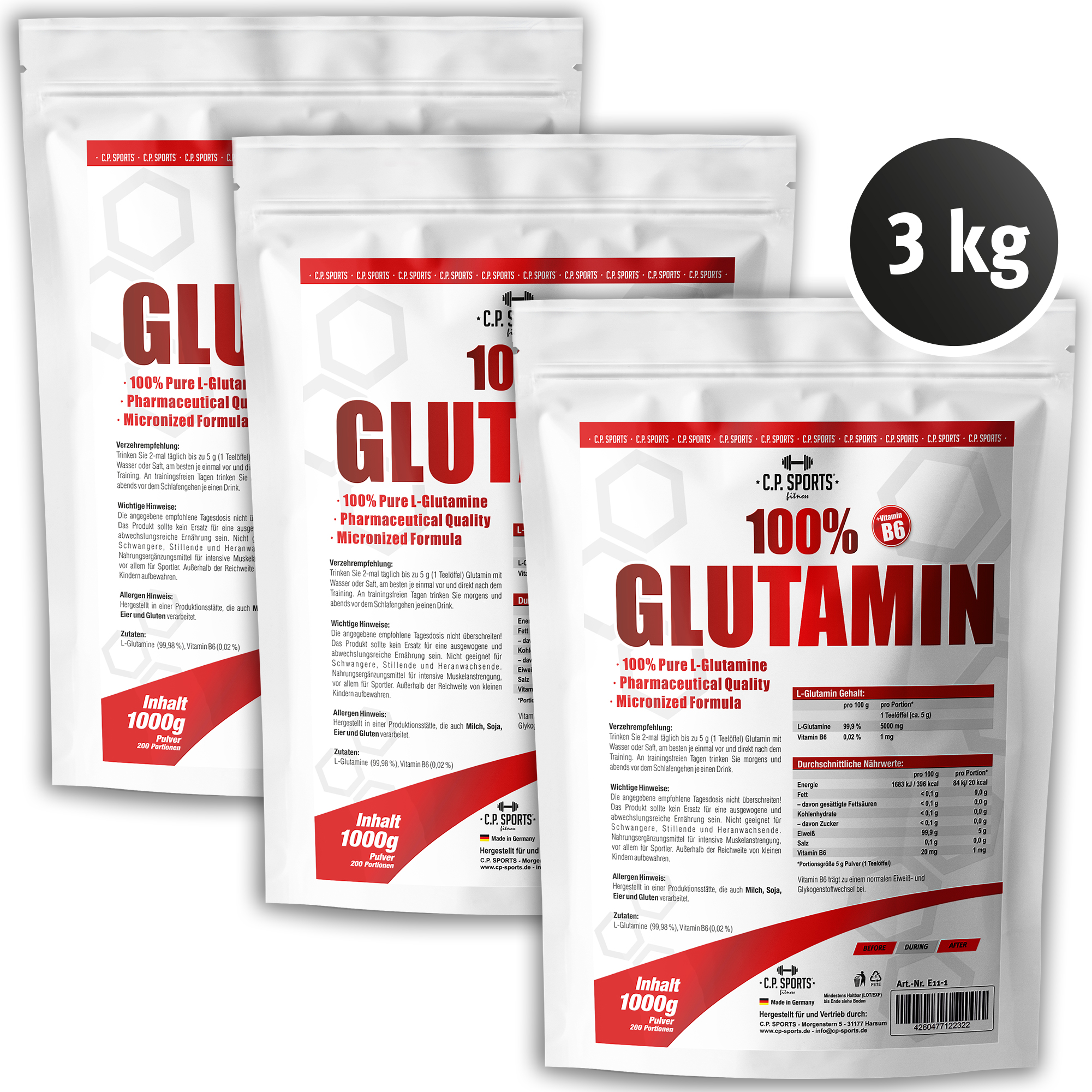 100% Glutamin Fitness Kraftsport Bodybuilding L-Glutamin Aminosäure Bodybuilding Fitness Glutamin ae8146