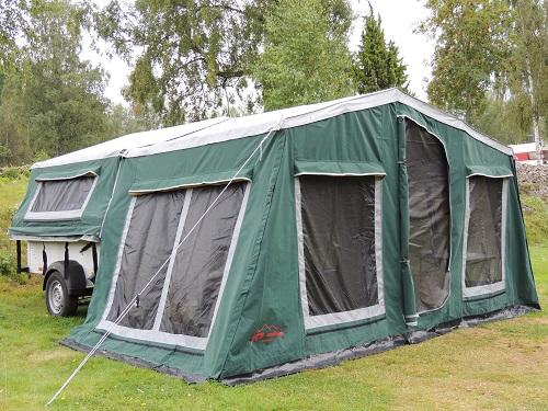 Zeltanhänger Tender XL der Faltcaravan von NB outdoor Campingtrailer mit Komfort