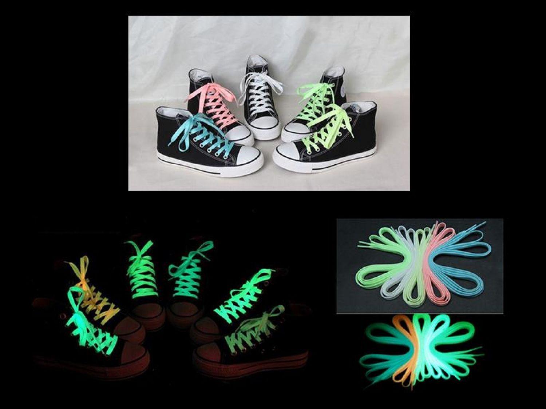 Rosa 100cm UV Schnürsenkel Leuchten im Dunkeln Sneaker Schuhsenkel Pink NO LED